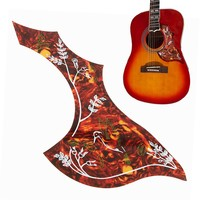 Acoustic Classic Guitar Red Hummingbird Pattern Music Pickguard Scratch Plate Pick Guard Protect Replace Durable