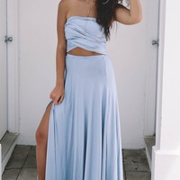 Constellations Wrap Style Top & Skirt Set