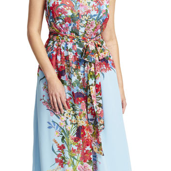 Painted Floral Maxi Dress - Adrianna Papell