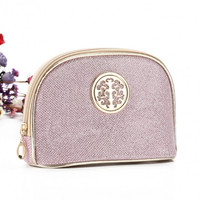 Women Portable Travel Bling Bling Zipper Cosmetic Makeup Bag Toiletry Case