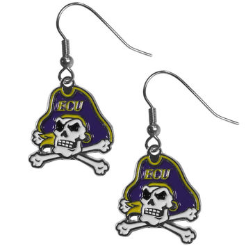 East Carolina Pirates Chrome Dangle Earrings CDE102N