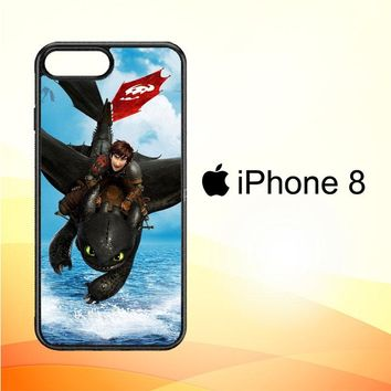 toothless how to train your dragon Y0783 iPhone 8 Case