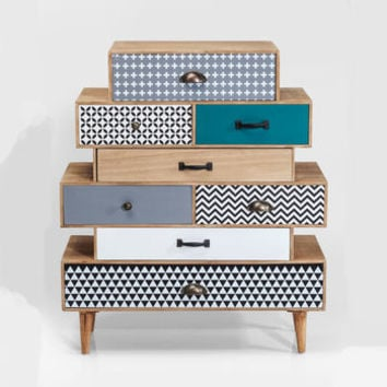 Eclectic Eight Drawer Dresser