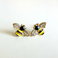 Tiny Bee Earrings
