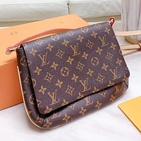 Louis Vuitton LV New Women Men Shopping Bag Leather Crossbody Satchel Shoulder Bag