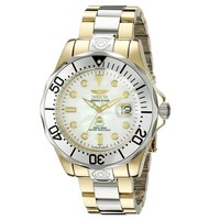 Invicta 16035 Men's Grand Diver White MOP Dial Two Tone Bracelet Automatic Dive Watch