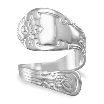 High Polished Sterling Silver Spoon Ring