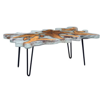 Jigsaw Rectangular Coffee Table Metal