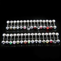 25 Logo Surgical Steel Tongue Bar Ring Barbell Piercing: Amazon.ca: Health & Personal Care