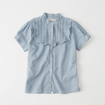 Womens Short Sleeve Button Down Shirt | Womens New Arrivals | Abercrombie.com