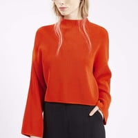 Compact Stitch Funnel Sweater - Topshop