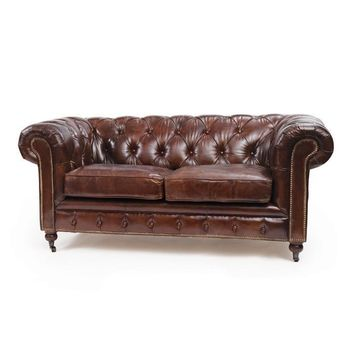 London Chesterfield Sofa Vintage Leather