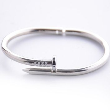 New Titanium Steel Nail Bracelets Screw Bangle Fashion Simple Bangles Korean accessories For Lovers