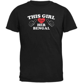 DCCKJY1 Valentines This Girl Loves Her Bengal Black Adult T-Shirt