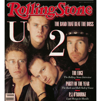 U2, Rolling Stone no. 521, March 10, 1988 Photographic Print by Matthew Rolston at AllPosters.com