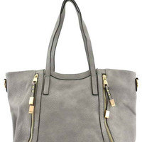 //Candace Tote// - Grey  *New*