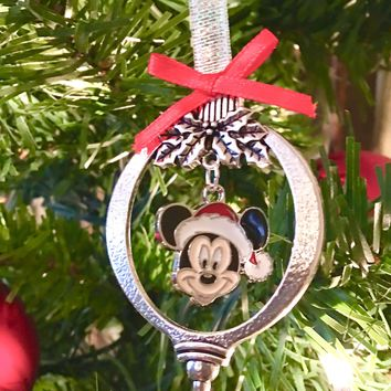 Mickey Mouse Christmas Ornament~Santa Mickey Ornament~USA Seller~Fast Shipping