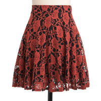 Demure Meets Daring Skirt in Persimmon | Mod Retro Vintage Skirts | ModCloth.com