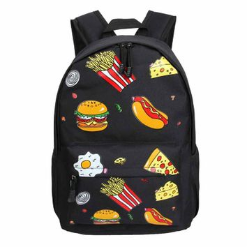 2017 Hot Sale Women Fashion Retro Harajuku Big Children Soft Girl Cute Shoulder Burger Student Packge