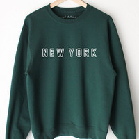 New York Oversized Sweater - Dark Green