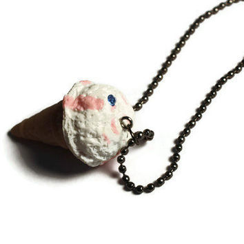 ICECREAM CONE Necklace by DeathwishDesign on Etsy
