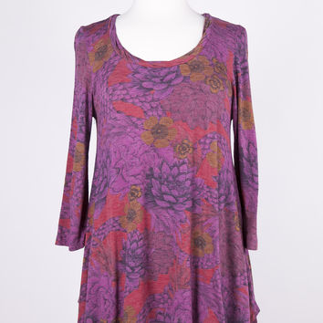 Plume & Thread Twisted Berry Tunic