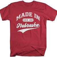 Shirts By Sarah Men's Made In Nebraska T-Shirt Since 1867 State Pride Shirts