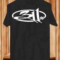 311 TShirt Tee Shirts Black and White For Men and Women Unisex Size