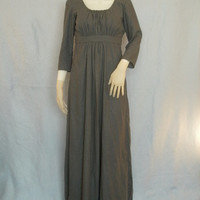 Simple Regency Costume Dress--- Sense and Sensibility style--- Modest Costume, Old English, Renaissance, Reenactment