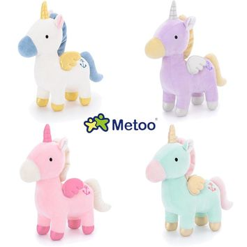 23cm unicorn doll Party decoration Girl Soft toys For children gifts stuffed plush horse toys Animals dolls Cartoon NM006