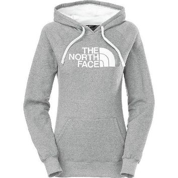 The North Face Casual Long Sleeve Plus Velvet Hooded Top Sweater Pullover Hoodie