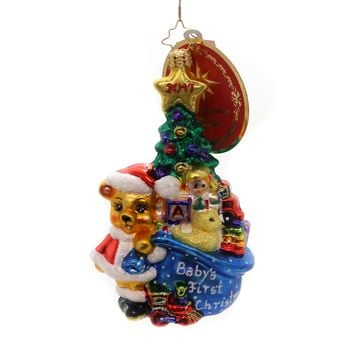 Christopher Radko First For Everything Glass Ornament