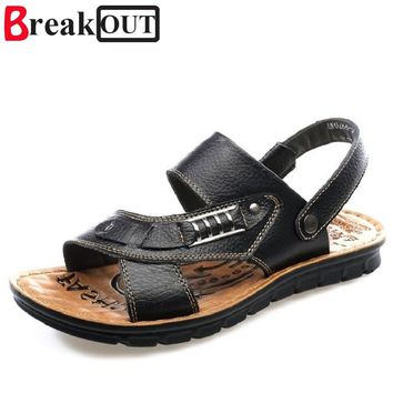 Men Leather Sandals Casual Style Shoes