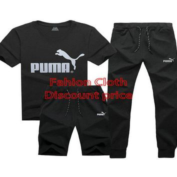 Puma New Style Clothing TREFOIL T-SHIRT Three-Piece Suit Black
