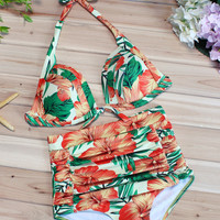 Full Bloom Print Two-piece Swimsuit