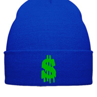 dollar embroidery snapback hat - Beanie Cuffed Knit Cap