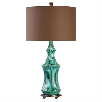 Timavo Teal Ceramic Lamp