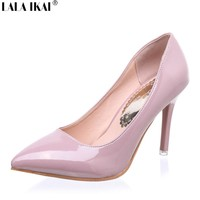Women Shoes High Heel  Patent  Leather Women Pumps Wedding Shoes Shallow Mouth Women Sexy High Heels