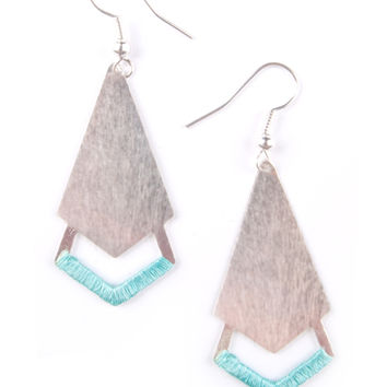 Threaded Arrow Earrings - Silver