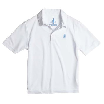 Youth Fairway Prep-Formance Polo in White by Johnnie-O