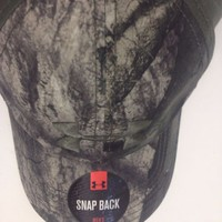 NEW Under Armour Men's UA Camo Snap Back Hat Mossy Oak 1265419-905