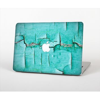 The Peeling Teal Paint Skin Set for the Apple MacBook Pro 15""