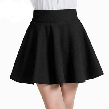 Style Korean version Skirts safty mini skirt women's   high waist pleated short skirt SM6