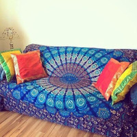 Rectangle Mandala Tapestry, 3 Styles
