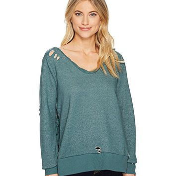 ROMEO & JULIET COUTURE French Terry V-Neck Knit Sweatshirt