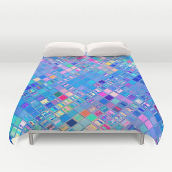 Re-Created  Mosaic No. EIGHT Duvet Cover by Robert S. Lee