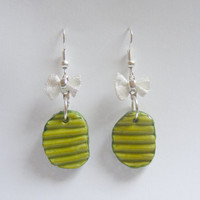 Pickle Dill Pickle Miniature Food Earrings - Miniature Food Jewelry