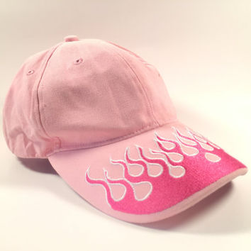 Pink Tumblr Flames Dad Hat