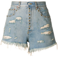 Gucci Distressed Fitted Shorts - Farfetch