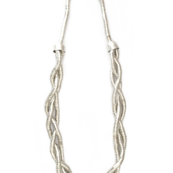 Nefertiti Silver Braid Necklace